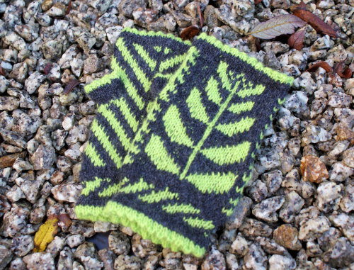 'Silver Birch' Knitting Kit - Charcoal & Lime