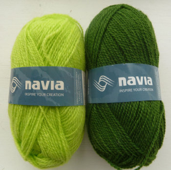 'Silver Birch' Knitting Kit - Green & Lime