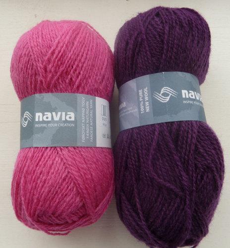 'Silver Birch' Knitting Kit - Plum & Pink