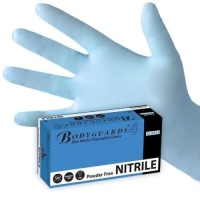 Blue Nitrile Powder Free Disposable Gloves M