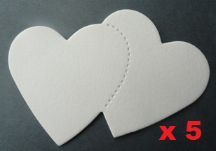 Double Heart x 5