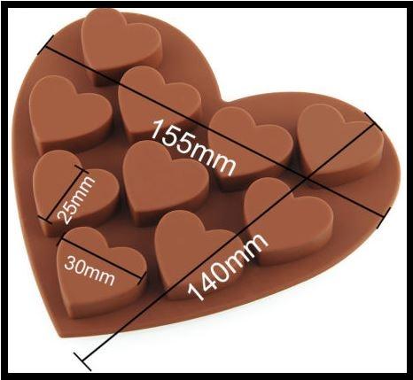 heart heart measurments mould