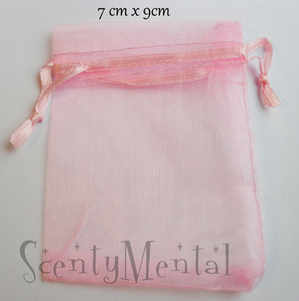 Baby Pink Organza Bags x 10