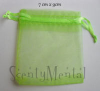 Green (light) Organza Bags x 10