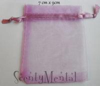 Purple/Lilac Organza Bags x 10