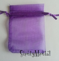 Deep Purple Organza Bags x 10