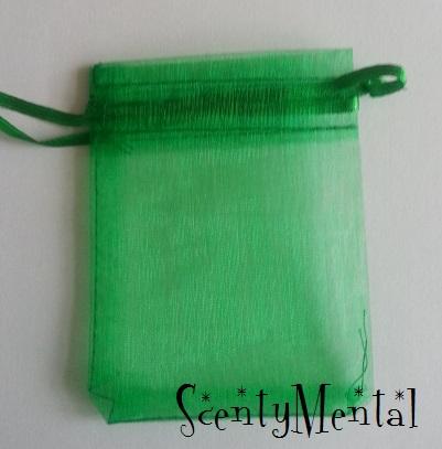 Emerald Green Organza Bags x 10