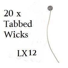 LX12 x 20 / 6in pre waxed, pre tabbed wick