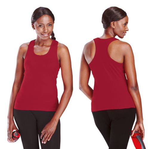 L-R Barron 210g Ladies Racerback Vests