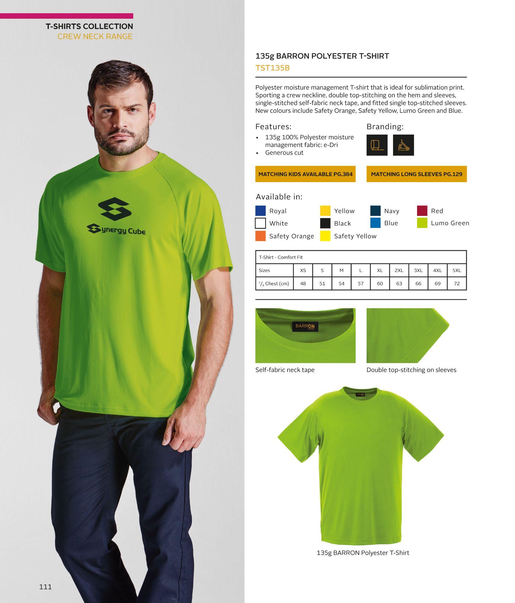TST135B Polyester T-Shirt