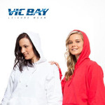 VIC BAY 280GSM COTTON HOODY