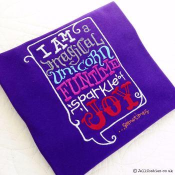 Unicorn embroidered  children's T shirt