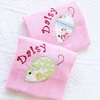 Personalised  Mouse baby muslin square