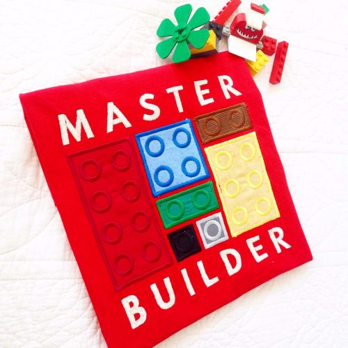 Lego blocks Master Builder children's T shirt
