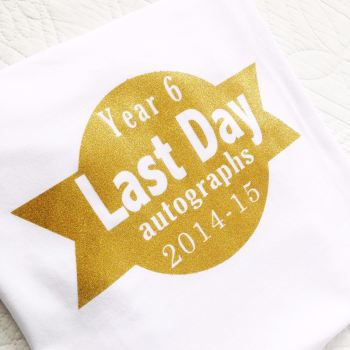 Last day of school autographs children's T shirt