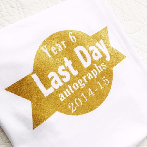 Last day of school autographs children's T shirt