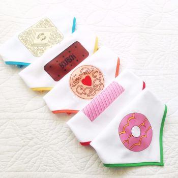 Biscuit design baby bandana dribble bib