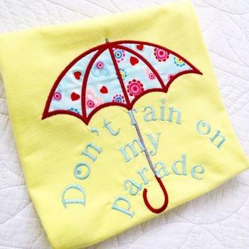 Don't rain on my parade children's T shirt