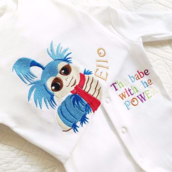 Labyrinth worm babe with the power babygrow  sleepsuit