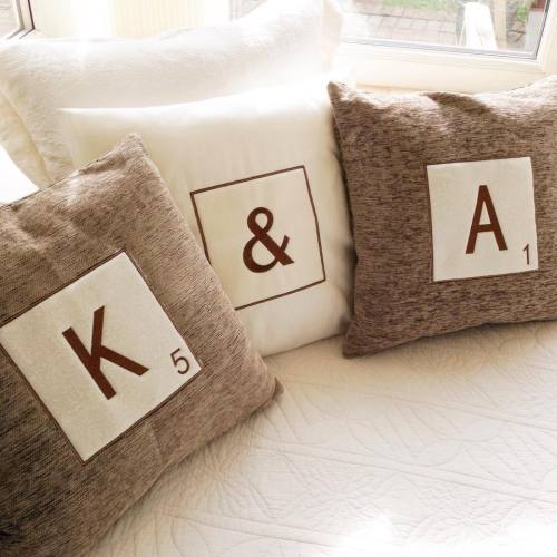 Personalised Letter tile cushion covers