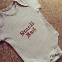 Labyrinth Ludo Smell Bad  baby onesie vest
