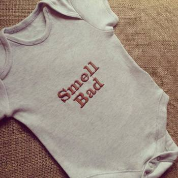 Labyrinth Ludo Smell Bad  baby onesie vest