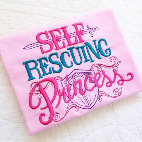Self Rescuing Princess children's T shirt