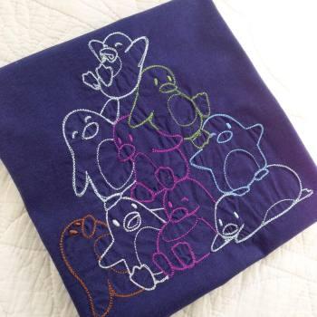Pile of penguins children's T shirt