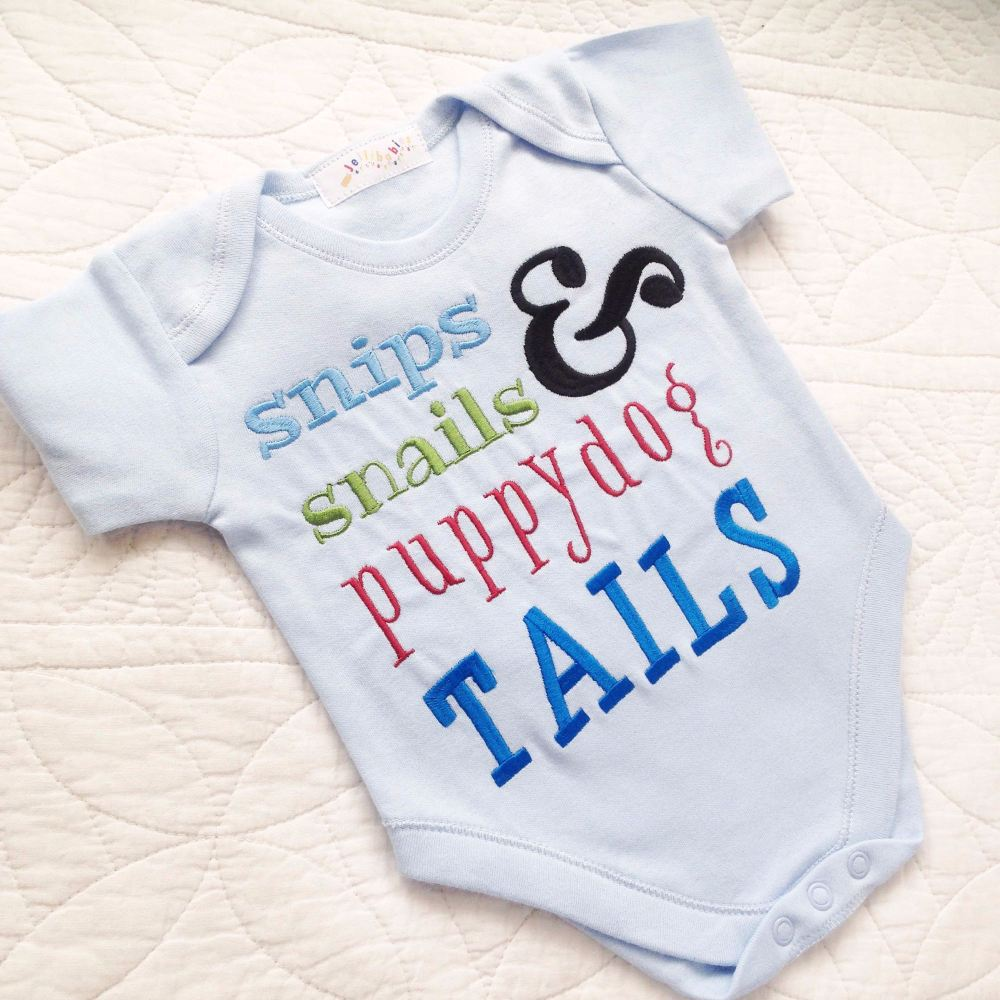 Slugs and snails baby onesie vest