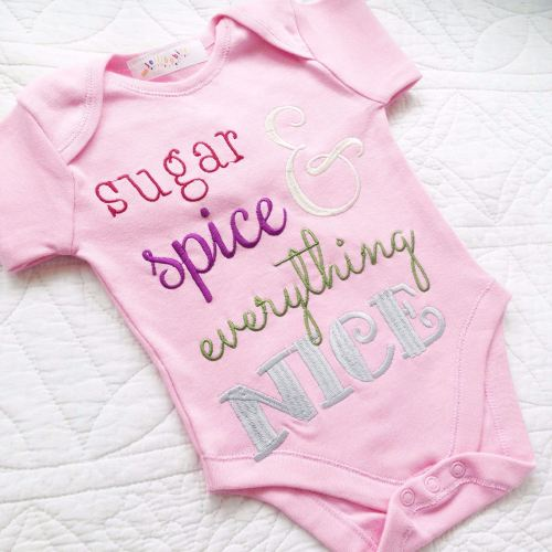 Sugar and spice baby onesie vest