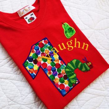 the very hungry caterpillar personalised birthday t shirt