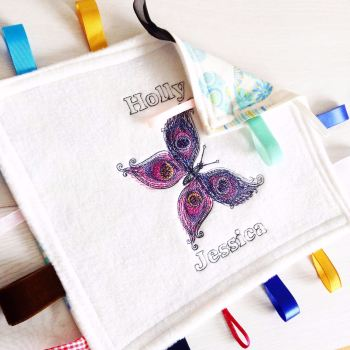 Butterfly  Taggy Taggie blanket