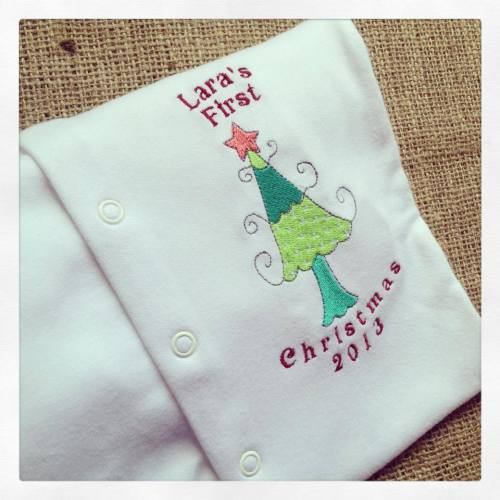 Personalised Baby's first christmas sleepsuit  Xmas Tree