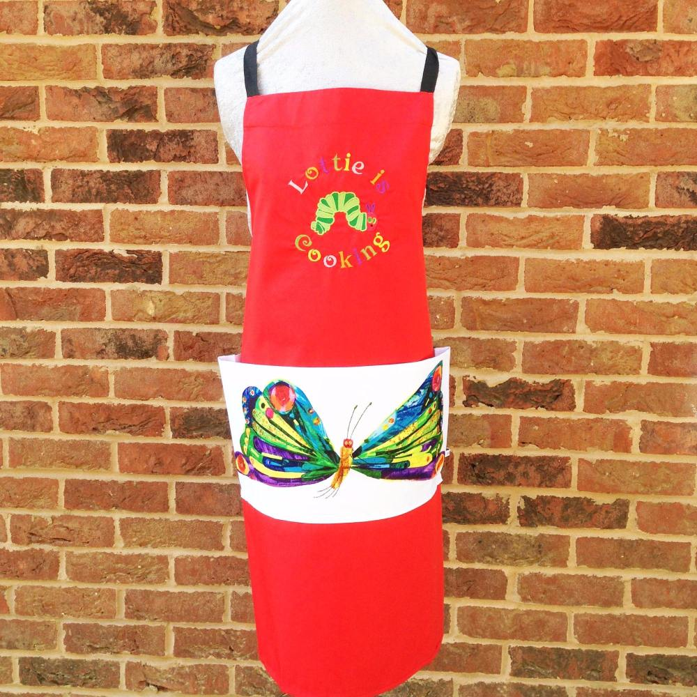 Personalised Children's The very hungry caterpillar apron