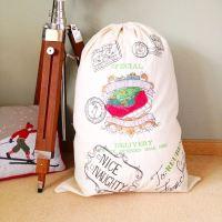 Giant personalised vintage christmas stocking sacks fully embroidered