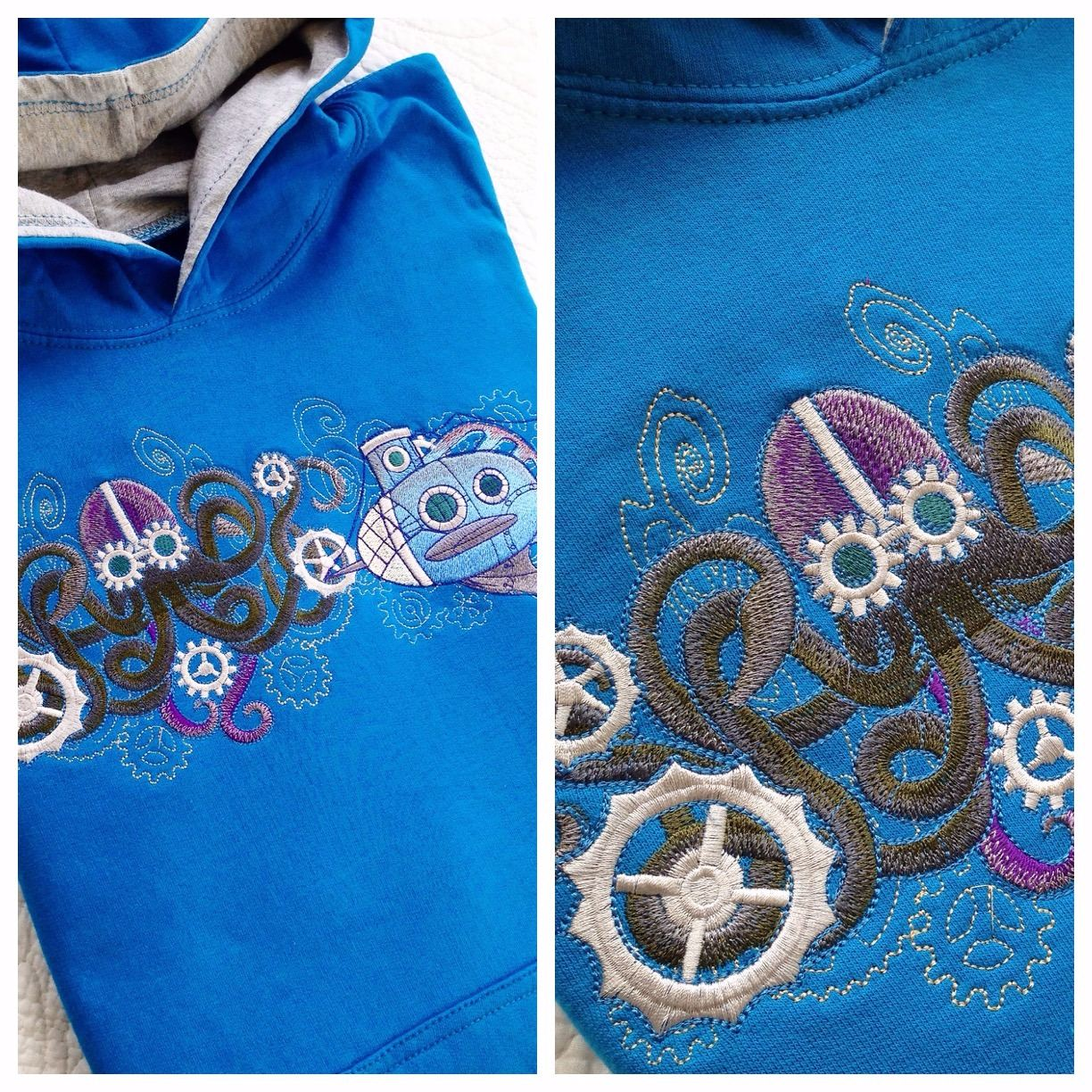 steampunk gothic sea creature octopus and submarine hoodie.jpg 3