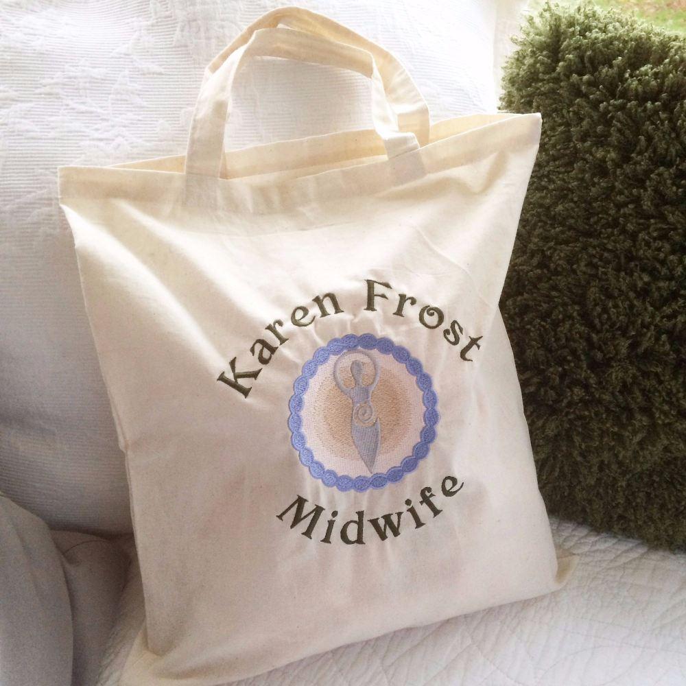 Custom order for KAREN  Breastfeeding  canvas tote bag