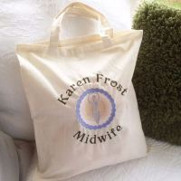 Custom order for KAREN  Breastfeeding  canvas tote bag