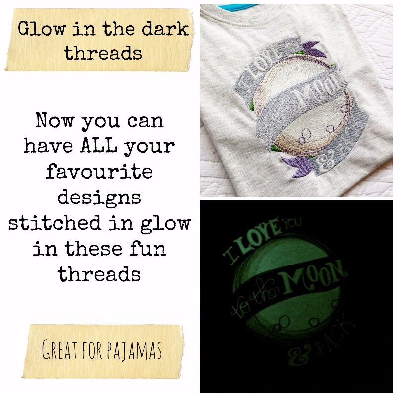 glow in the dark collage