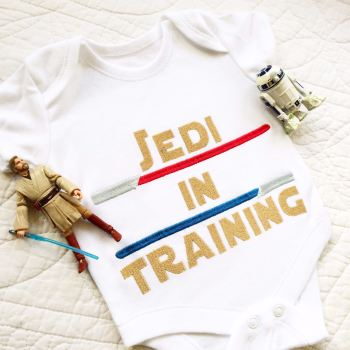 Star wars Jedi In Training baby onesie vest