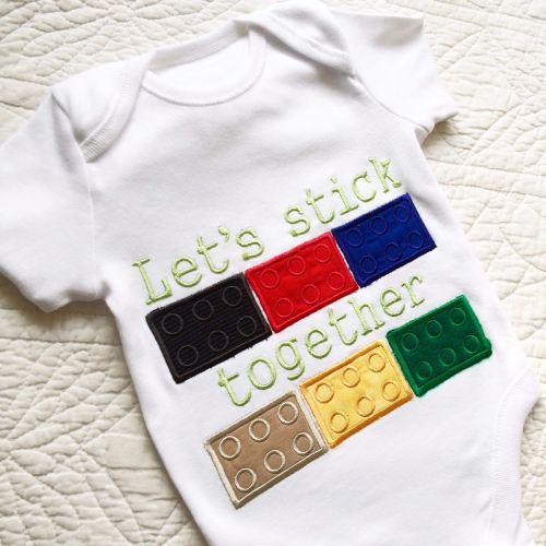 Lego blocks baby onesie vest