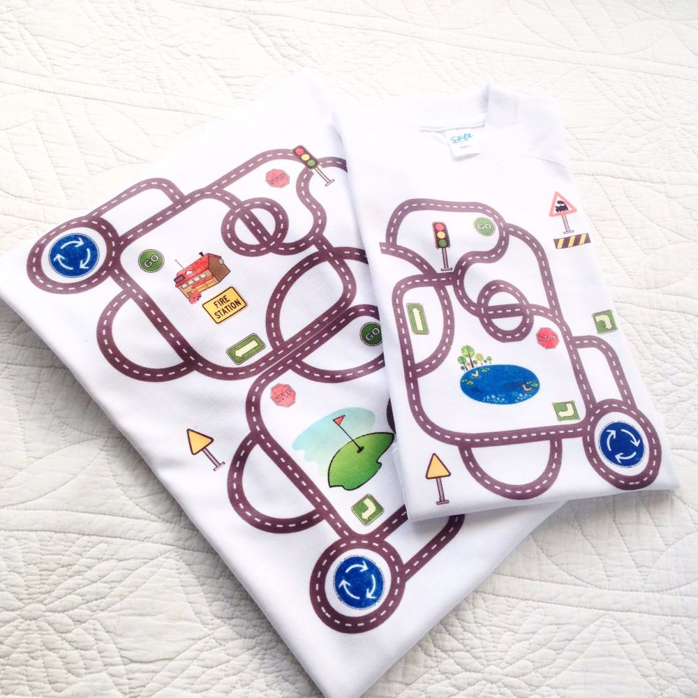 Racing track Fathers day T shirt