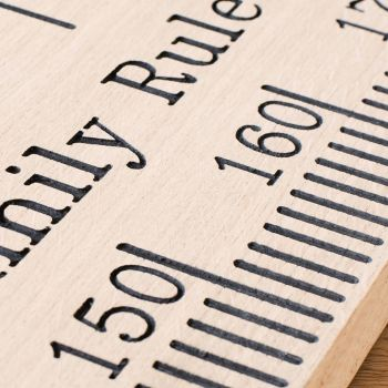 solid oak engraved wooden height chart ruler 2
