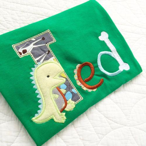 Personalised dinosaur  T shirt