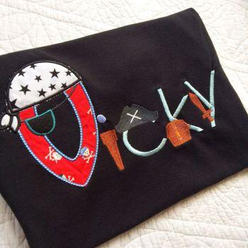 Personalised Pirate T shirt