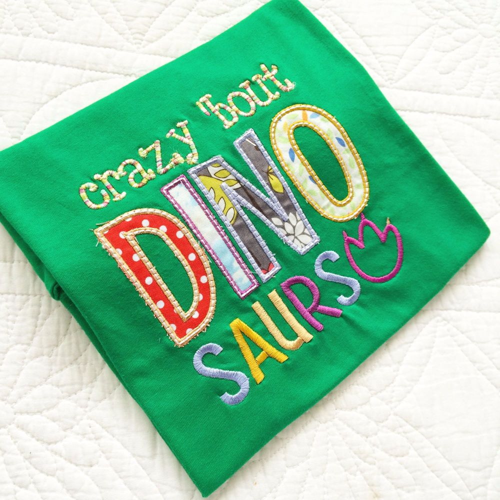 Crazy about Dinosaurs children's T shirt