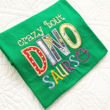 Crazy about Dinosaurs children's T shirt