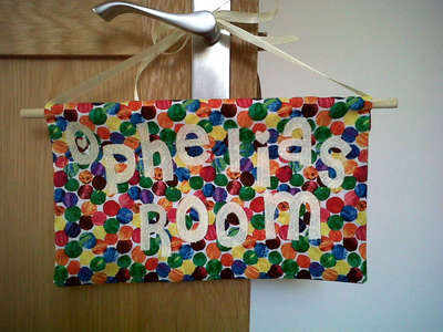 The very hungry caterpillar personalised name plaque