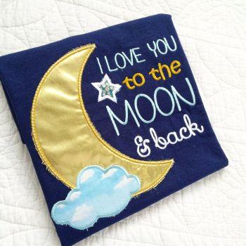 Moon & back  children's T shirt
