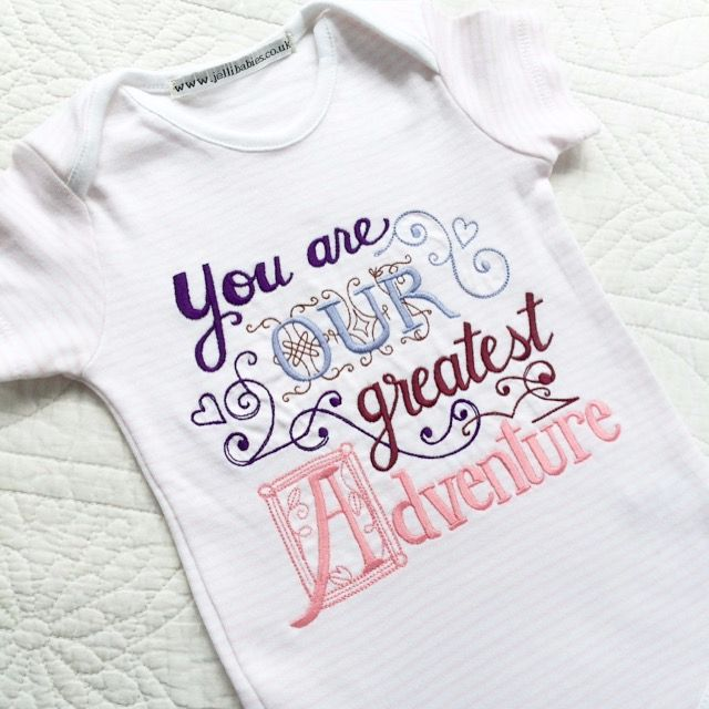 You are our greatest adventure baby onesie vest